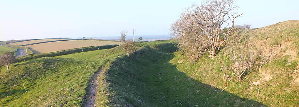 Castle Dore, ancient earthwork, in the Parish of St Sampson