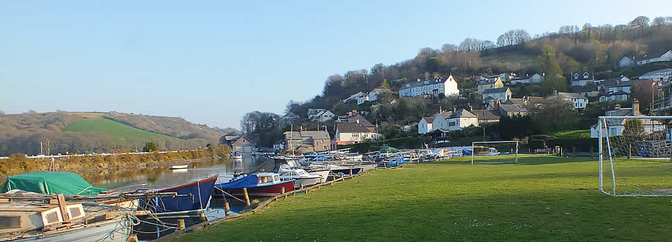 The Village Green and harbour, Golant